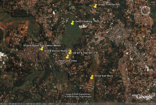 Hasil olah gambar dari Google Earth