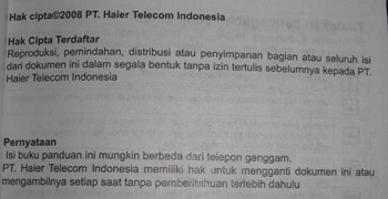 Manual Haier Bahasa Indonesia